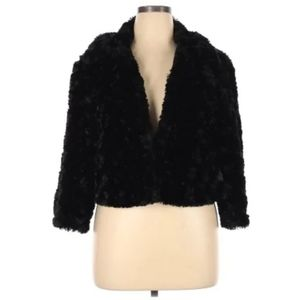 Mix It Black Faux Fur Jacket